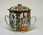 Chinese Rose Medallion Two-handled  covered Cup