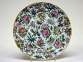 19thc Chinese Export Famille Rose Plate