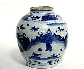 Chinese Blue And White Porcelain Ming 