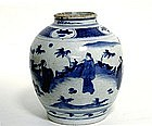 Chinese Blue And White Porcelain Ming  style  Jar