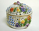 Vintage Dresden Covered Box With 