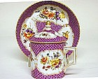 Dresden Porcelain Cabinet Cup And  saucer, C1900