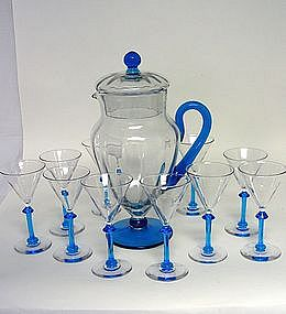 Vintage Set Of Crystal Cocktail  Glasses 