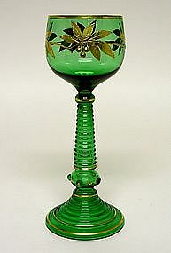 19th C Bohemian Enameled Wine Goblet