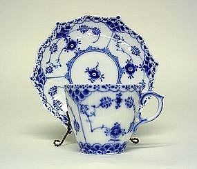 A Royal Copenhagen Full Lace Demitasse  cup And Saucer