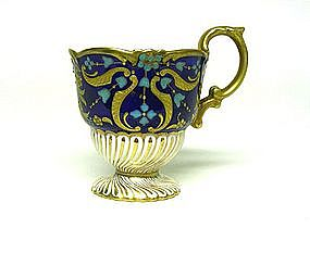 Antique English Cabinet Demitasse Cup  with Jeweling