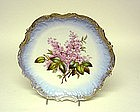 Limoges Cabinet Plate With Lilacs, Ca. 1890