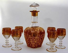 A Bohemian Glass Drinks Set