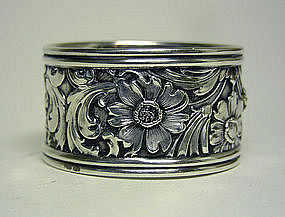 American Victorian Sterling Repousse  Napkin Ring