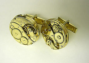 Vintage Gold Watch Movement Cufflinks