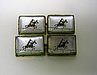 Vintage Reverse Painted Crystal 