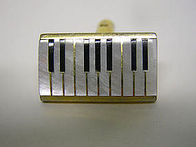 Vintage Mop Piano Keyboard Cufflinks