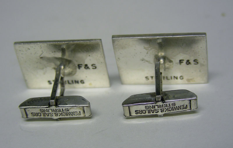 Fenwick & Sailors Silver Tote Ticket Form  cufflinks
