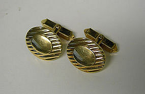 Edwardian Gold Filled Oval Toggle Back 