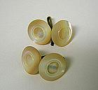 Edwardian Mop Double Button Cufflinks