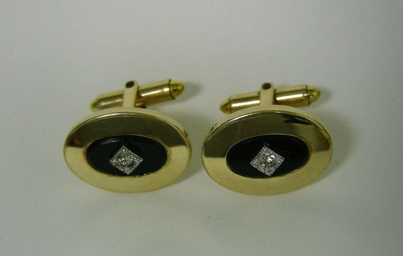 Vintage Gold Filled Toggle Back  cufflinks