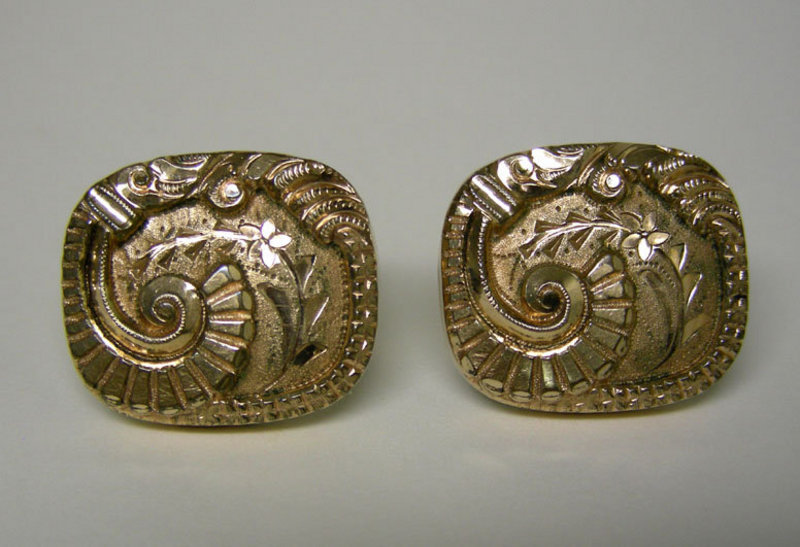 Victorian Gold Filled Collar Button 
