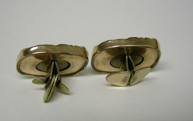 Victorian Gold Filled Collar Button  cuff Links