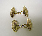 Victorian 10k Gold Double-sided Cuff Links