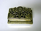 An Art Nouveau Style Brass Stamp Holder