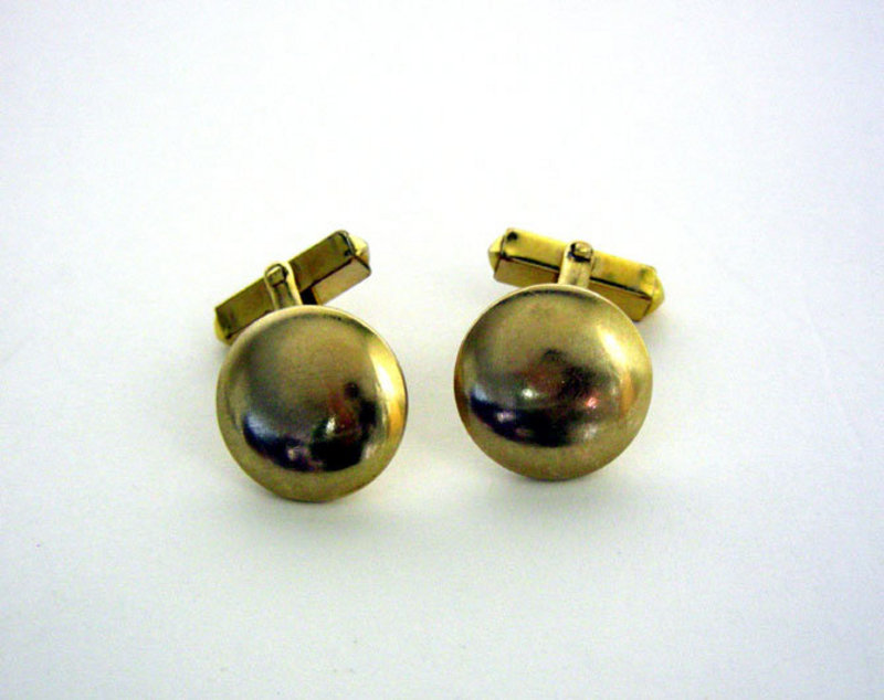 Vintage Gold Filled Button Toggle Back Cufflinks