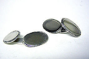 Vintage Danish Two-Sided Silver 