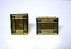 Vintage 14k Gold Toggle Back Cufflinks