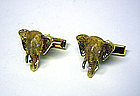 Vintage Gold And Diamond Elephant 