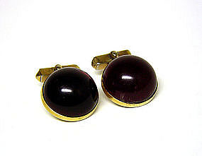 Vintage Swank Dome Shape Toggle Back Cufflinks