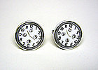 Art Deco Glass And Rhinestone Clock 