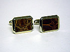 Vintage Gold Plate Crocodile Toggle 