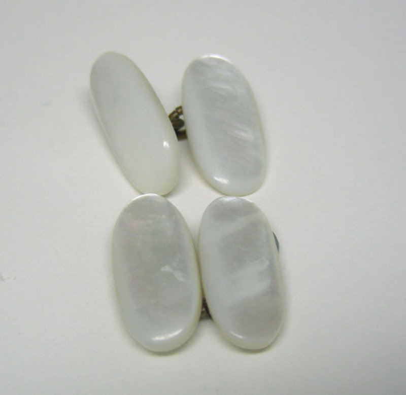 Antique Mother Of Pearl Double Sided Cufflinks
