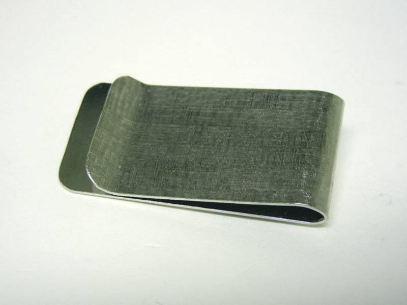 Vintage Silverplate Bowler Money Clip