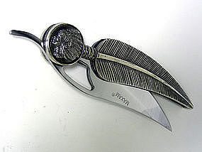 Stainless Steel Feather Knife