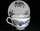 Vintage Royal Worcester Golf Motif Cup  and Saucer