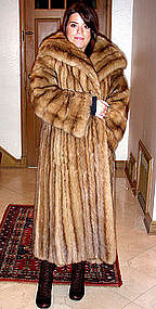 Vintage Russian Sable Fur Coat With 