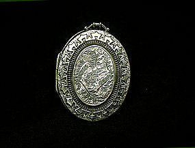 Victorian Sterling Silver Sincerity  locket, C 1831