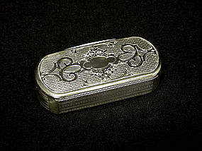 Rare Antique Silver Gilt Snuff Box 