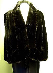 Vintage Fur Cape, Circa 1940's
