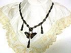 Vintage Art Nouveau Damascene Necklace