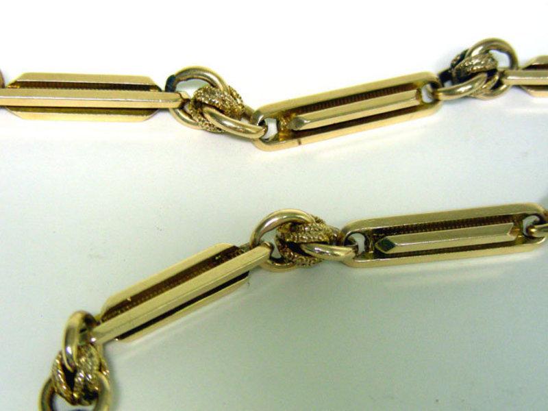 Antique 14k Gold Watch Chain