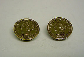 Gold Liberty $2 1/2 Quarter Eagle Coin 