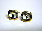 Vintage Gold Plated Mop Golfer 