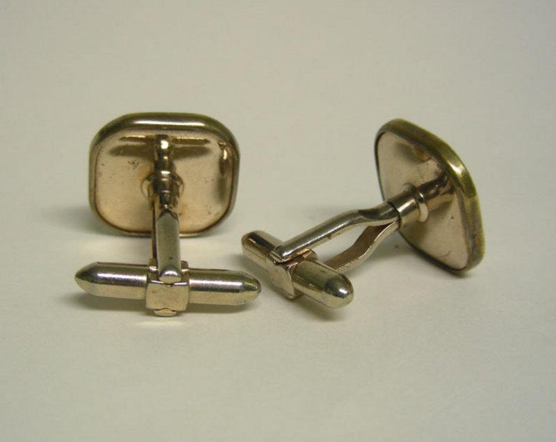 Vintage Gold Plated Mop Golfer  cufflinks