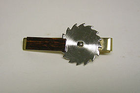 Vintage Gold Plate Saw Blade-form Tie 