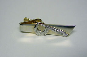 Vintage Gold Plated Caliper-form Tie Clip