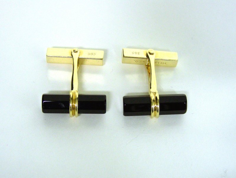 Tiffany & Co. 14k Gold And Onyx Barrel 