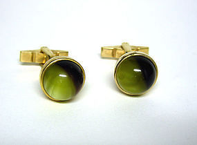 Vintage Gold Filled And Cats Eye 