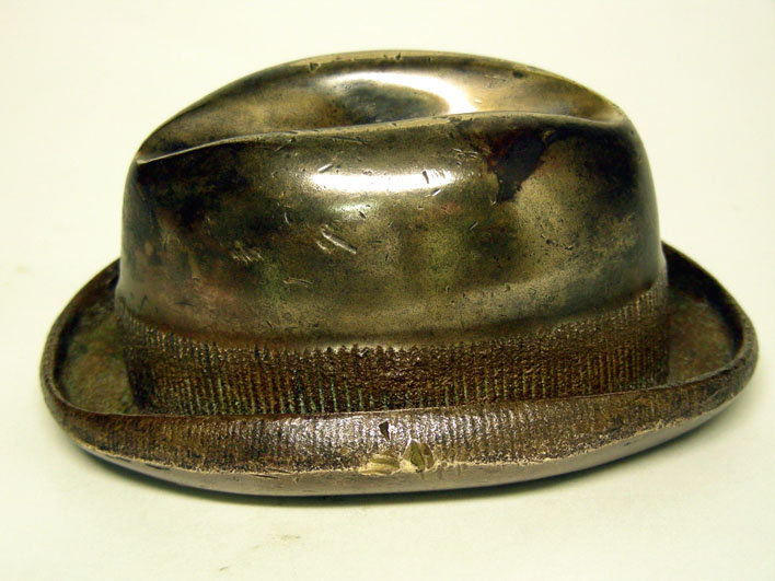 Vintage Fedora Hat-Form Paperweight