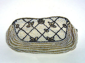 Vintage Bead And Pearl Evening Clutch 